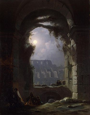 Colosseum in the Moonlight (Carl Gustav Carus, circa 1830)